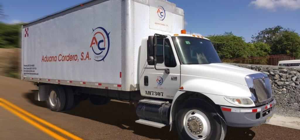 Transporte terrestre - Camión Aduana Cordero